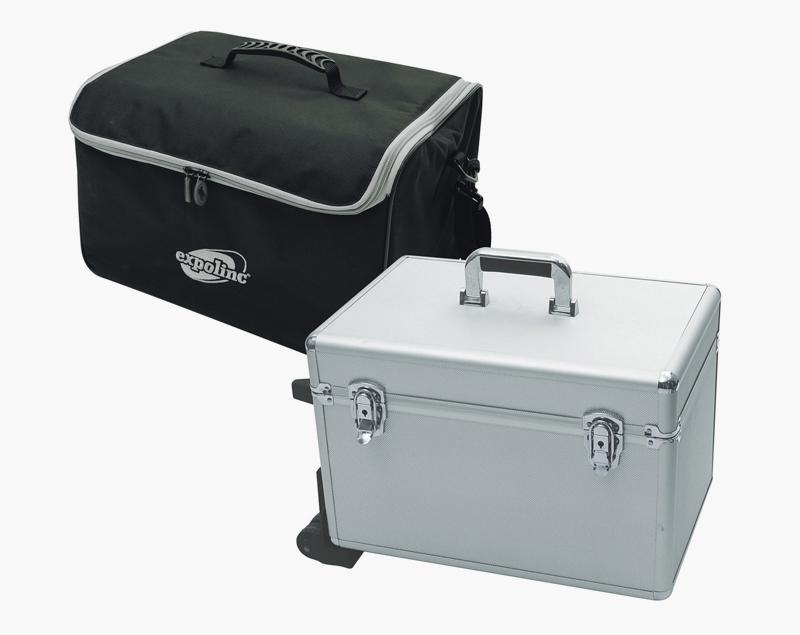 Draagbare tas of harde koffer op wielen.?