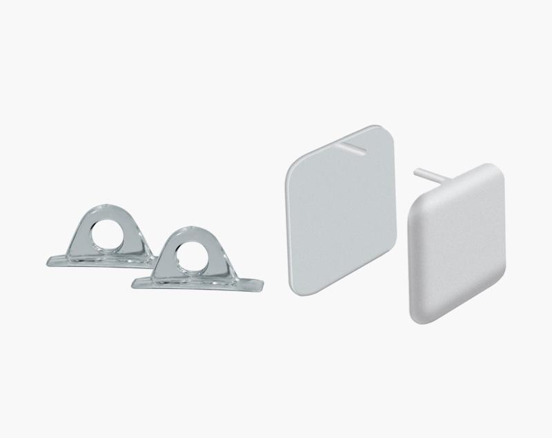 De ophanghaakjes en eindkapjes zijn leverbaar als accessoire.