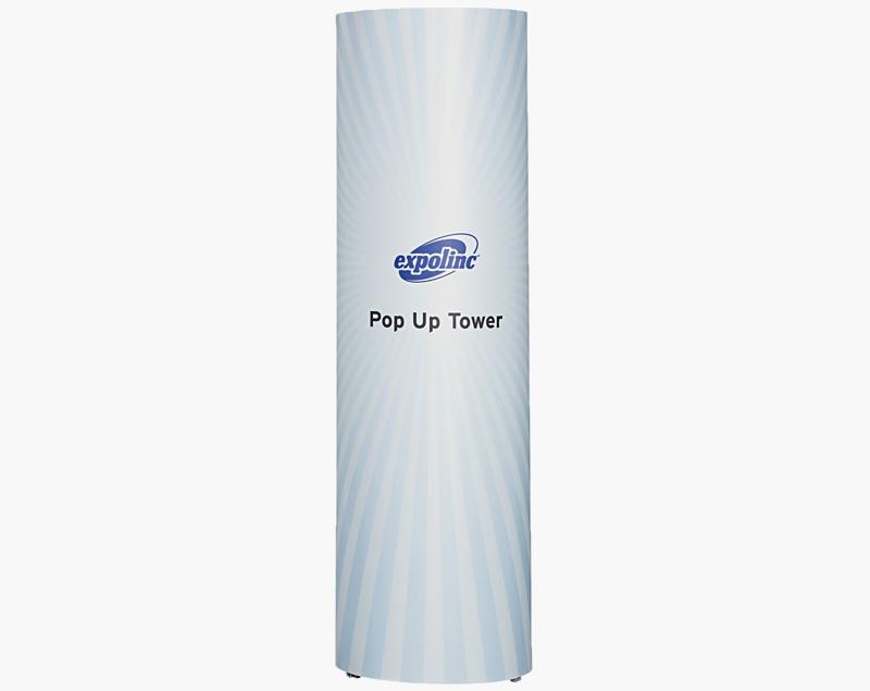 De Pop-Up Magnetic Toren is een effectieve manier om 360o aandacht te krijgen.