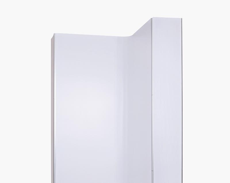 Platte zijkanten zijn een eenvoudig te gebruiken optie. Plaats eenvoudig de profielen op de magneetrails en geef uw display een stijlvolle uitstraling.