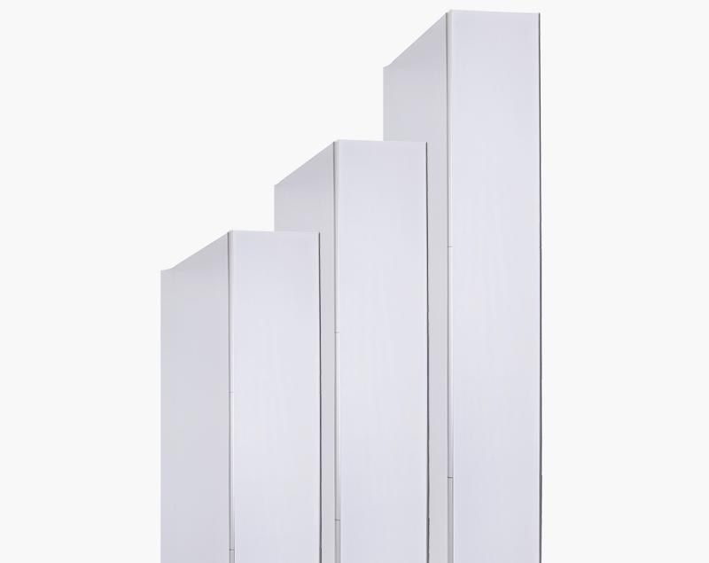 Gebruik verschilende magneetbars en frames om hoogtes van 2.5 en 3 meter te bereiken.