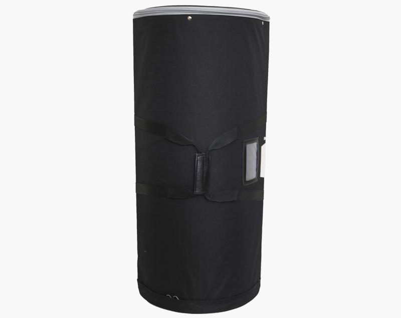 De Panel Case is leverbaar als optie. The printbanen zijn goed beschermd in een gevoerde draagtas met handvat. De diameter is 360 mm.