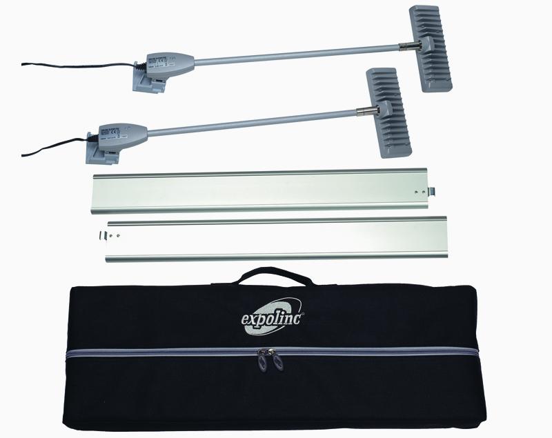 De beste LED verlichting in zijn klasse is leverbaar als set met 2 spots 15W 1200 lumen, een draagtas en stabilisatievoeten.
